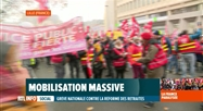 Grève en France: des milliers de manifestants ont défilé à Lille