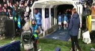 L'entrée sur la pelouse des joueurs du Real Madrid