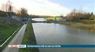 Un pont de Gouy-lez-Piéton détruit à l'explosif