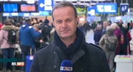 Grève en France: Emmanuel Dupond est à la gare de Bruxelles-Midi