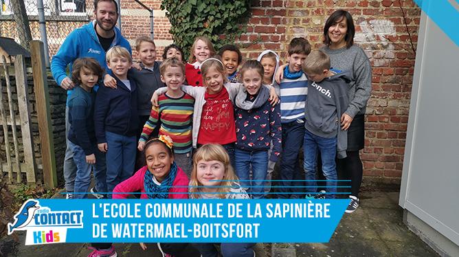 Contact Kids à l'Ecole Communale de la Sapinière de Watermael-Boitsfort.