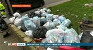 Une montagne de sacs poubelles dans la Cité Parc à Marcinelle