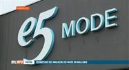 E5 Mode ferme ses 12 magasins en Wallonie