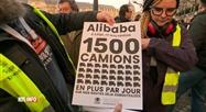 Manifestation à Liège contre la venue d'Alibaba à Bierset