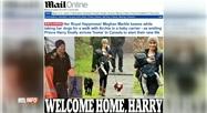 Harry a rejoint Meghan et leur fils Archie au Canada