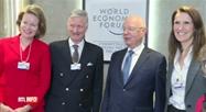 Forum économique mondial de Davos: la délégation belge rencontre le président et fondateur
