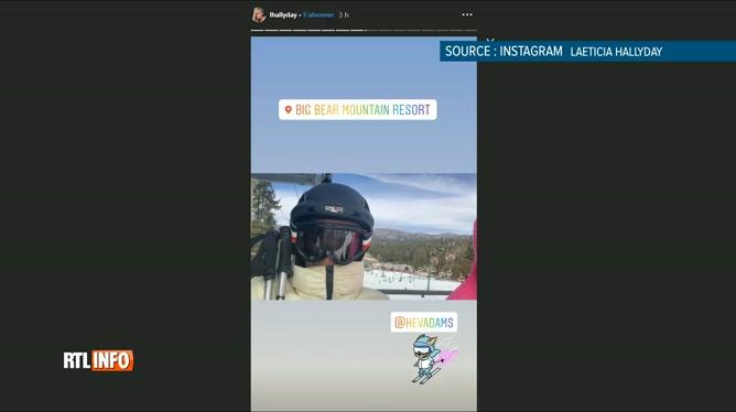 Laeticia Hallyday: découvrez avec quel humoriste elle s'amuse au ski !