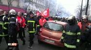 Des milliers de pompiers ont manifesté à Paris