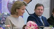En visite à Châtelet, la reine Mathilde évoque le harcèlement des jeunes