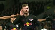Timo Werner ouvre le score pour le RB Leipzig sur penalty