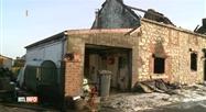 Une maison détruite par un incendie à Thy-Le-Bauduin ce matin