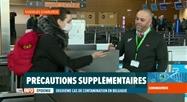Coronavirus en Belgique: mesures sanitaires à l'aéroport de Charleroi
