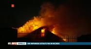 Un violent incendie a détruit l'imprimerie Kimva de Juprelle