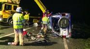 Une collision frontale a fait un mort et deux blessés hier à Salles