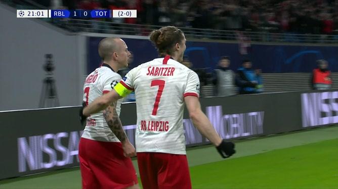 Leipzig double la mise rapidement (2-0)