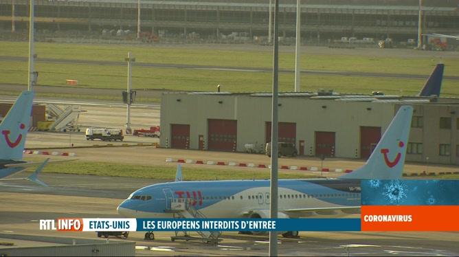 Covid-19: le secteur aérien belge impacté par la décision de Trump