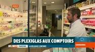 La Belgique confinée: du plexi aux comptoirs des pharmacies à Namur