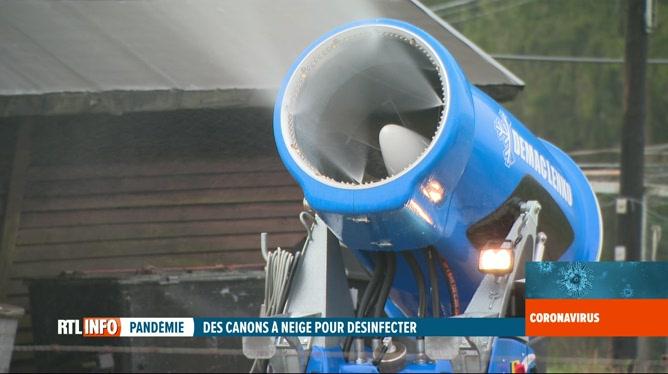 Coronavirus en Belgique: des canons à neige pour désinfecter l'espace public ?