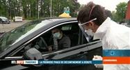 Coronavirus en Belgique: dépistage en mode drive-in à Jambes