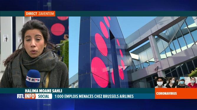 Coronavirus: Halima Moane Sahli est en direct du siège de Brussels Airlines