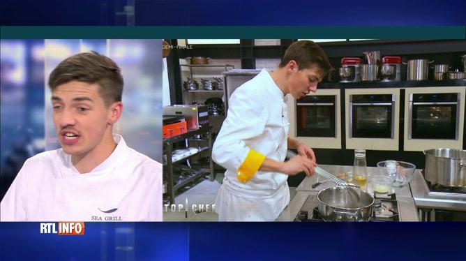 Mallory, le candidat belge de Top Chef, est l'invité du RTLInfo 13H