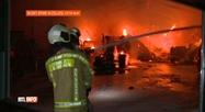 Un hangar agricole détruit par un incendie  à Buzet