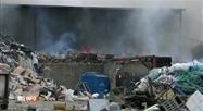 Incendie dans un centre de tri des déchets à Rochefort