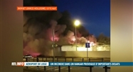 Important incendie dans un hangar de l'aéroport de Liège hier soir