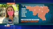 Coronavirus: 3 nouvelles communes wallonnes imposent le masque obligatoire
