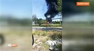 Une épaisse fumée noire visible à plusieurs kilomètres à Wanze