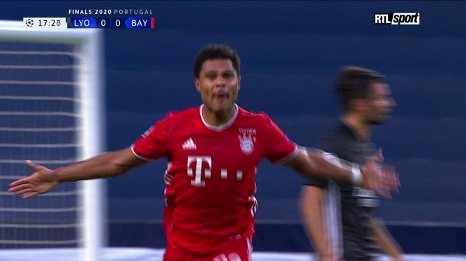 Lyon - Bayern Munich: Gnabry inscrit un superbe but (0-1)