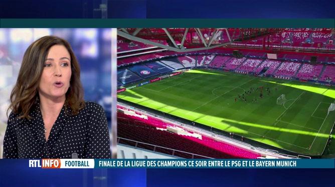 Anne Ruwet  préface  la finale de Champions League entre le PSG et le Bayern
