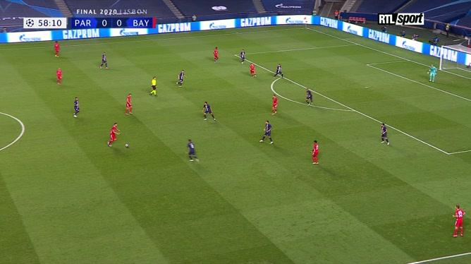 Kingsley Coman ouvre le score pour le Bayern Munich dans cette finale de la Ligue des champions