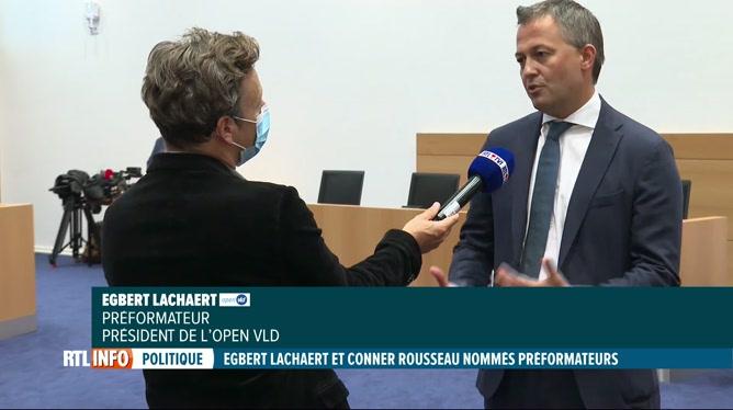 Formation fédérale: Egbert Lachaert et Conner Rousseau nommés préformateurs