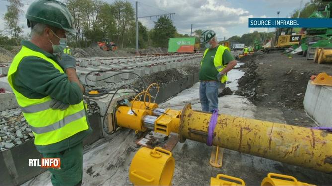 Infrabel installe un énorme chantier ferroviaire à Franière