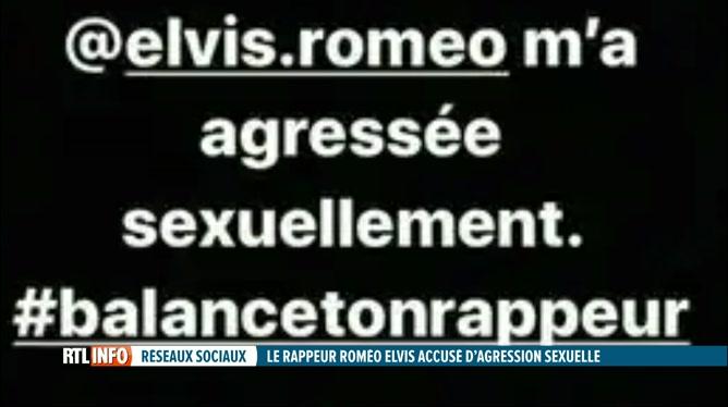 Le chanteur Roméo Elvis accusé d'agression sexuelle