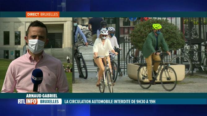 Dimanche sans voiture: la capitale vit au rythme de la mobilité douce