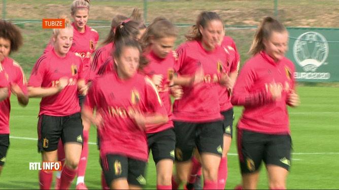 Foot féminin: entraînement des Red Flames avant leur match en Suisse