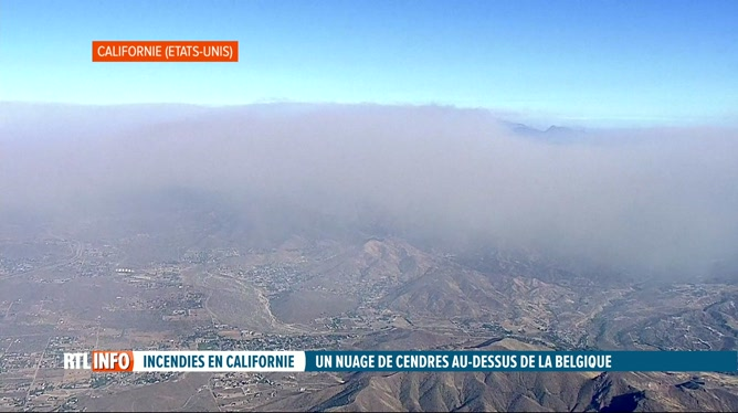 Un nuage de cendres californien est arrivé au-dessus de l'Europe