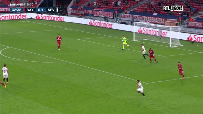 Supercoupe d'Europe: Leon Goretzka égalise pour le Bayern Munich après une superbe action collective!