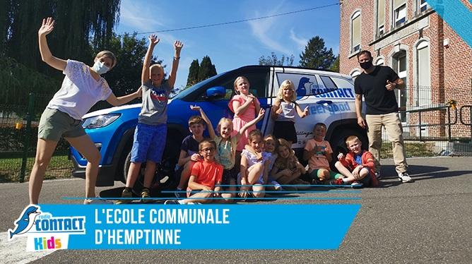 Contact kids à l'école communale d'Hemptinne