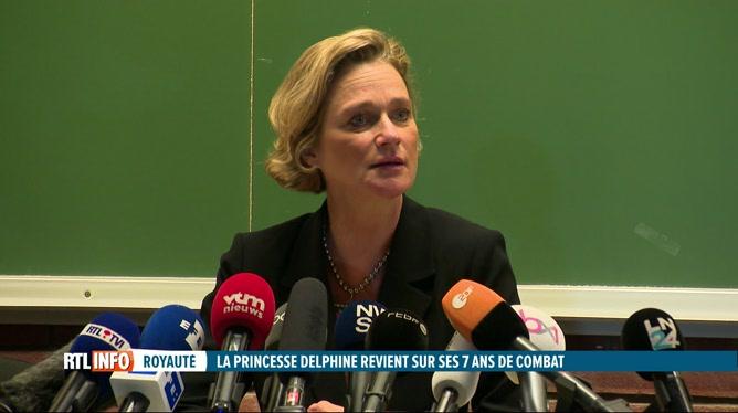 Conférence de presse de Delphine de Saxe-Cobourg