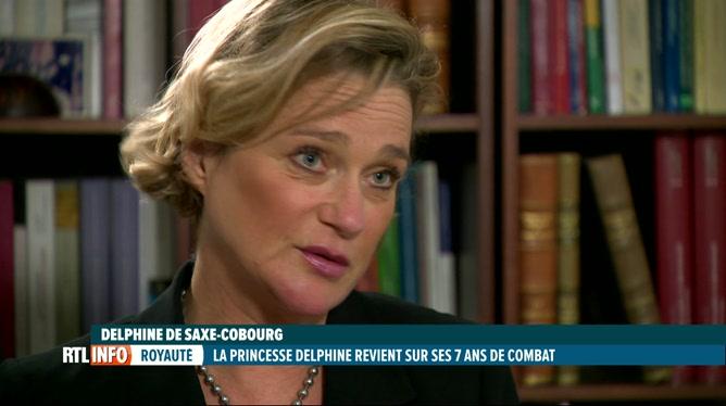 Première interview télévisée de la princesse Delphine