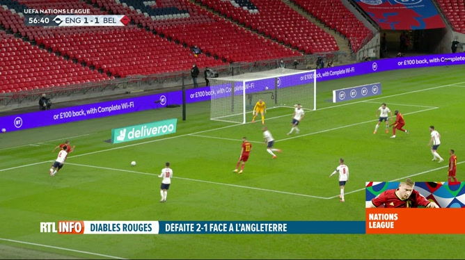 Football, Ligue des Nations: Angleterre - Belgique (2-1)