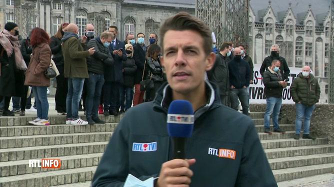 Coronavirus en Belgique: manifestation en cours à Liège