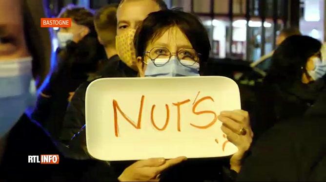 Coronavirus: manifestation du personnel de l'Horeca hier soir à Bastogne