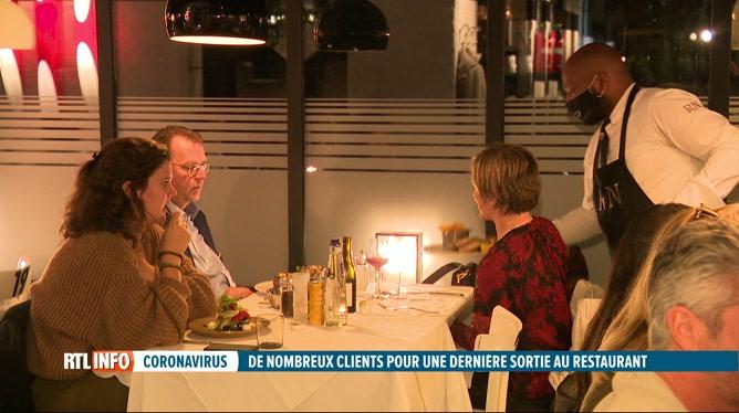 Coronavirus: de nombreux clients dans les restaurants hier soir