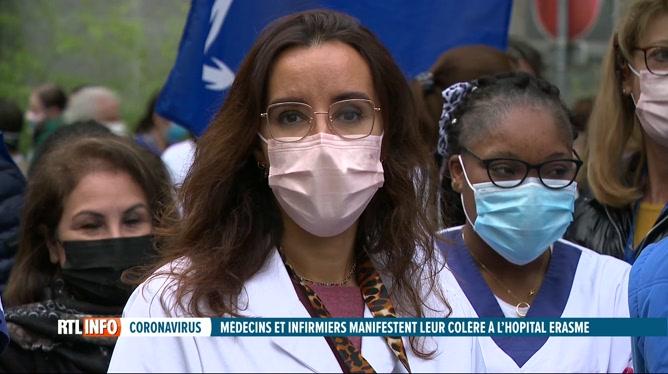 Coronavirus: arrêt de travail à l'hôpital Erasme, ce matin