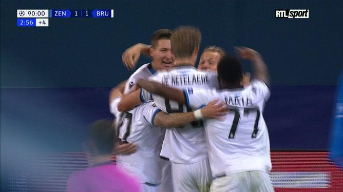 Zénith - Club Bruges: De Ketelaere marque dans les dernières secondes du match (vidéo)