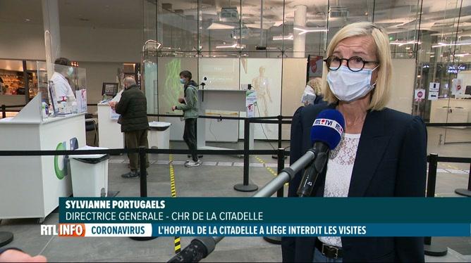 Coronavirus: l'hôpital de la Citadelle à Liège interdit les visites aux patients